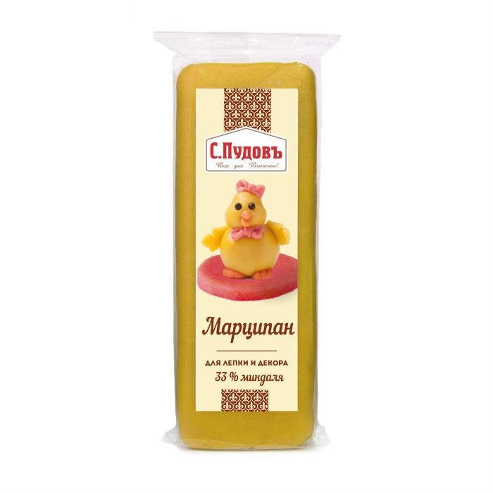 Марципан С.Пудовъ Для лепки и декора Желтый