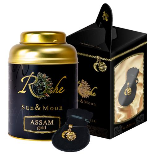 Чай Riche Natur Assam Gold с кулоном Sun&Moon подарочный набор