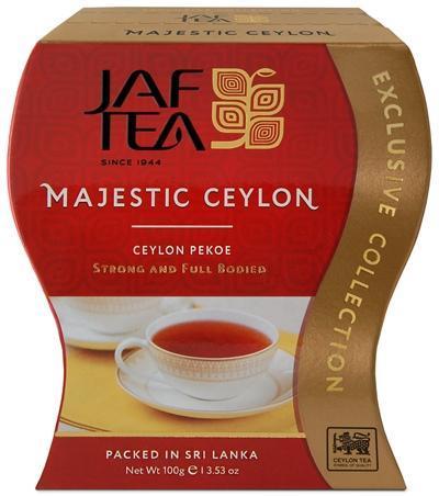 Чай черный листовой JAF TEA Majestic Ceylon, сорт Pekoe 100 гр.
