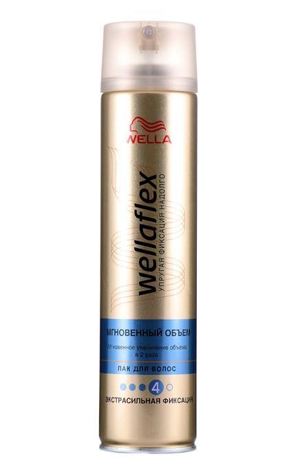 Лак для волос Wellaflex Мгновенный объем экстрасильная фиксация
