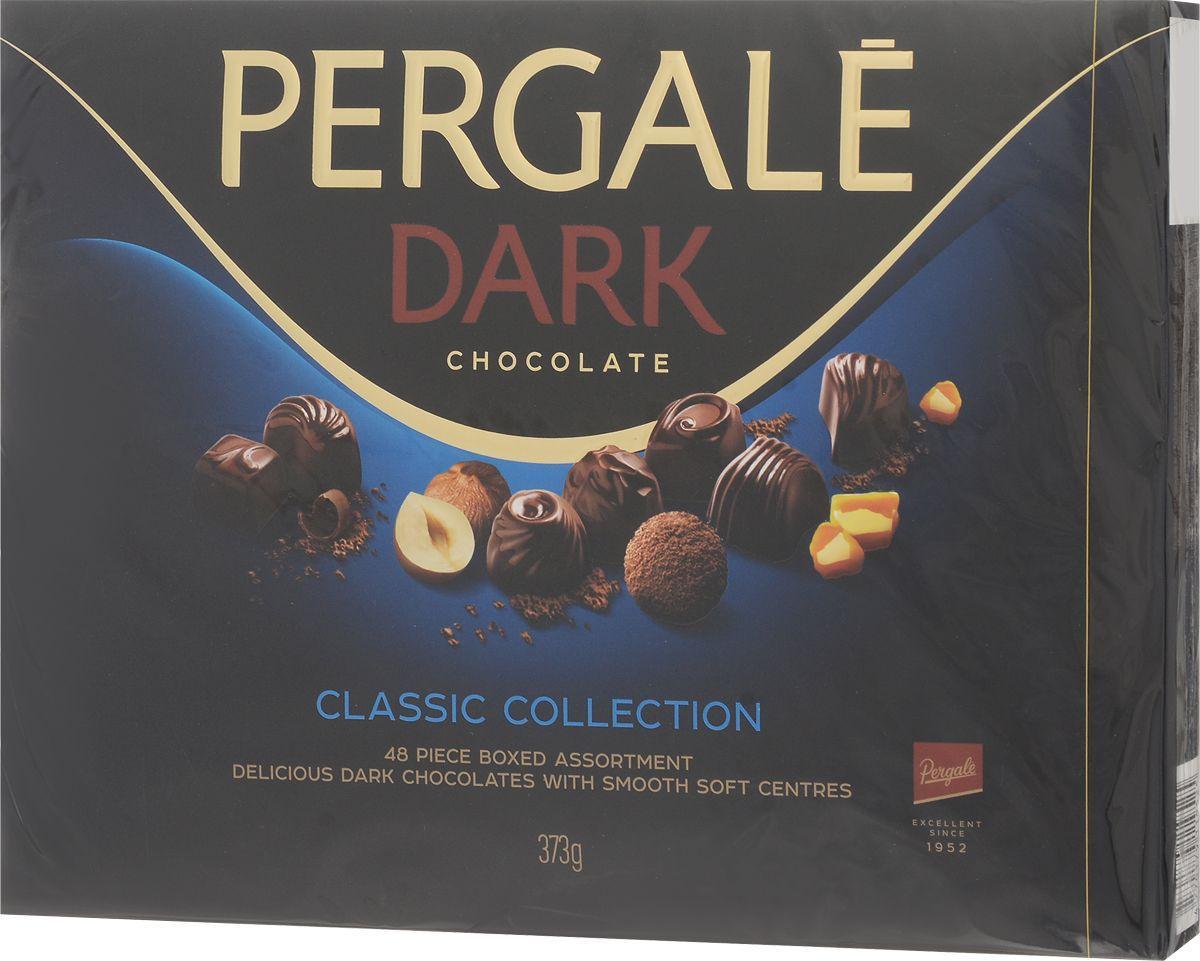 Конфеты Pergale черный шоколад с алкогольной начинкой