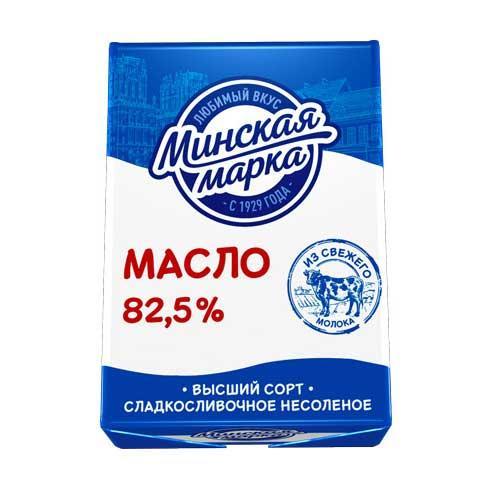 Масло сладкосливочное Минская Марка Несоленое 82,5%