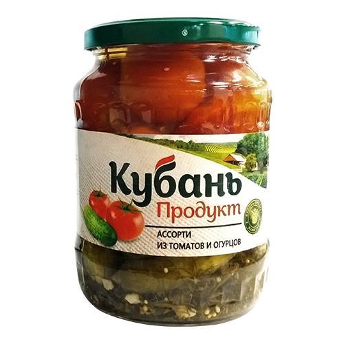 Ассорти Кубань Продукт из томатов и огурцов маринованное