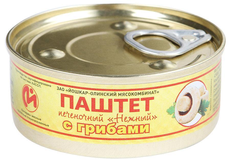 Паштет ЗАО Йошкар-Олинский мясокомбинат печеночный с грибами