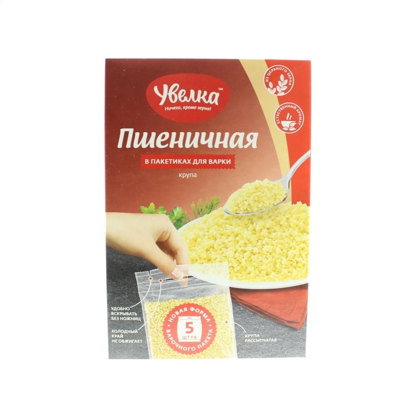 Крупа пшеничная Увелка в пакетах для варки
