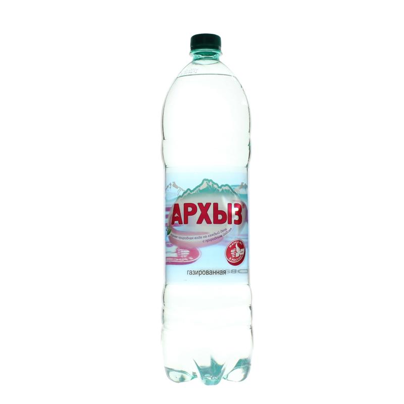 Вода минеральная Архыз газированная горная питьевая столовая  1,5 л.