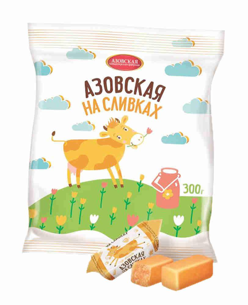 Конфеты Азовская кондитерская фабрика Азовская коровка На сливках