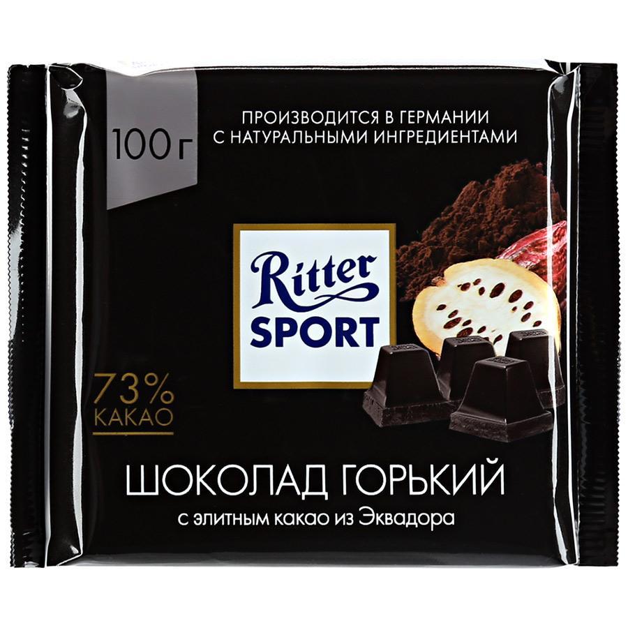 Шоколад Ritter Sport горький Эквадор 73%