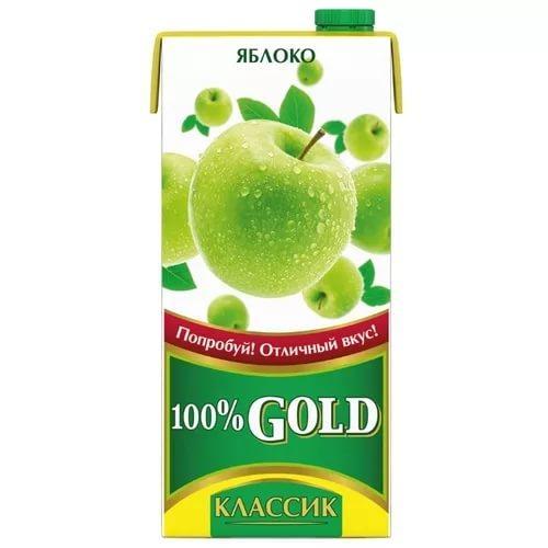 Сок Gold классика яблочный осветленный