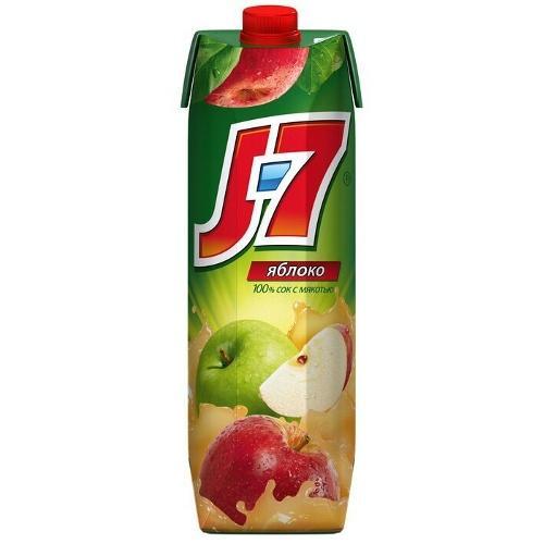 Сок яблоко с мякотью J7, 970 мл., Тетра-пак