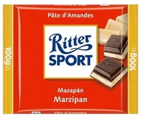 Шоколад Ritter Sport Темный с начинкой Марципан