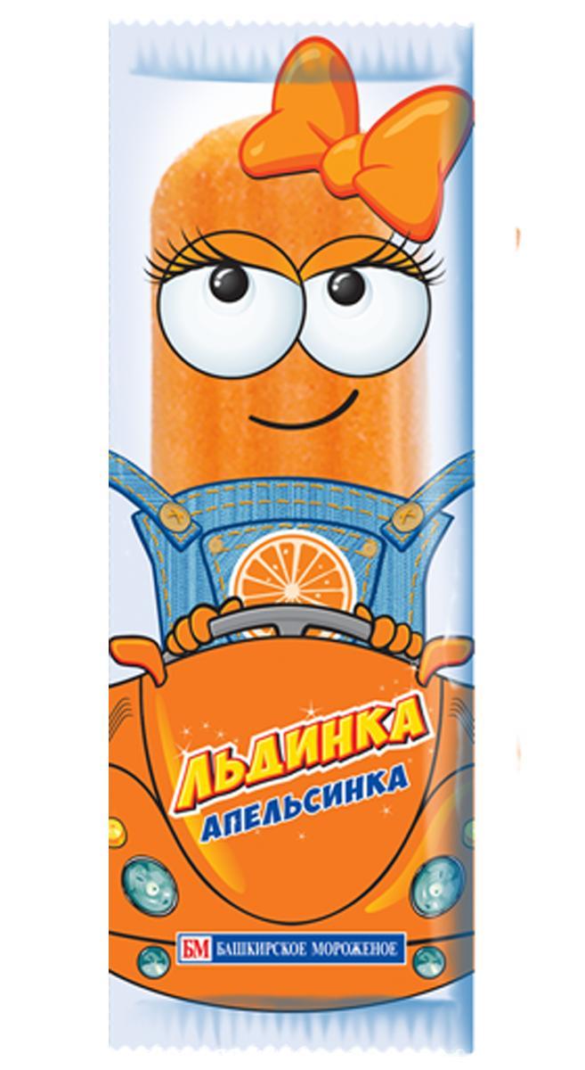 Мороженое Льдинка Фруктовый лед Апельсин