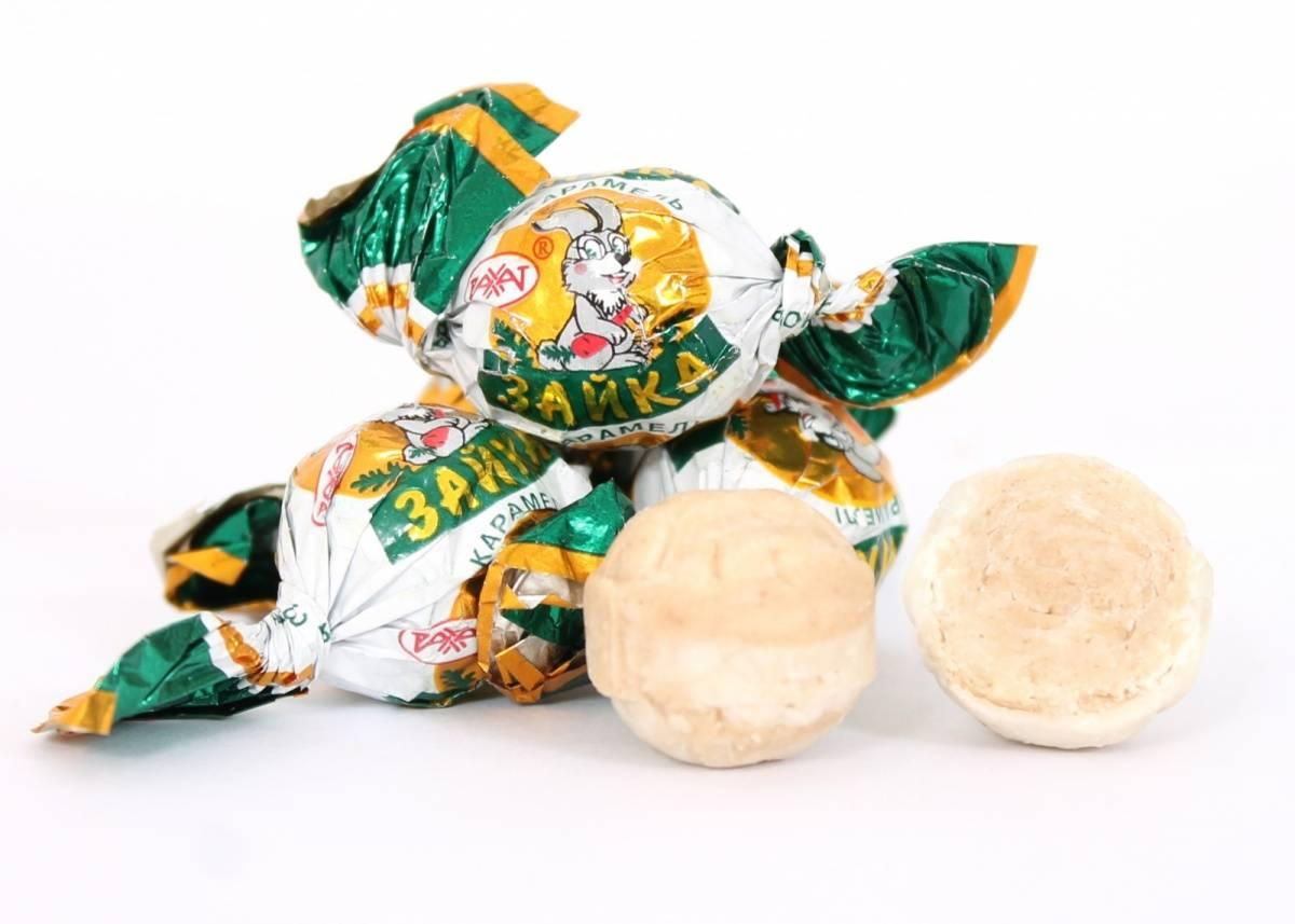 Карамель Рахат Зайка (молочно-ореховая начинка)