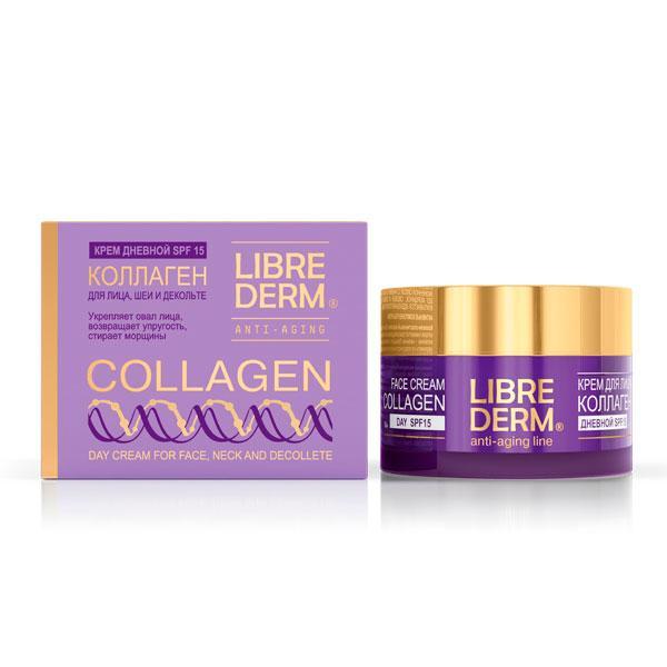 Крем Librederm Collagen Дневной для восстановления сияния и ровного цвета кожи SPF15