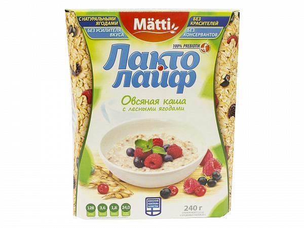 Каша Matti Лакто Лайф овсяная в ассортименте