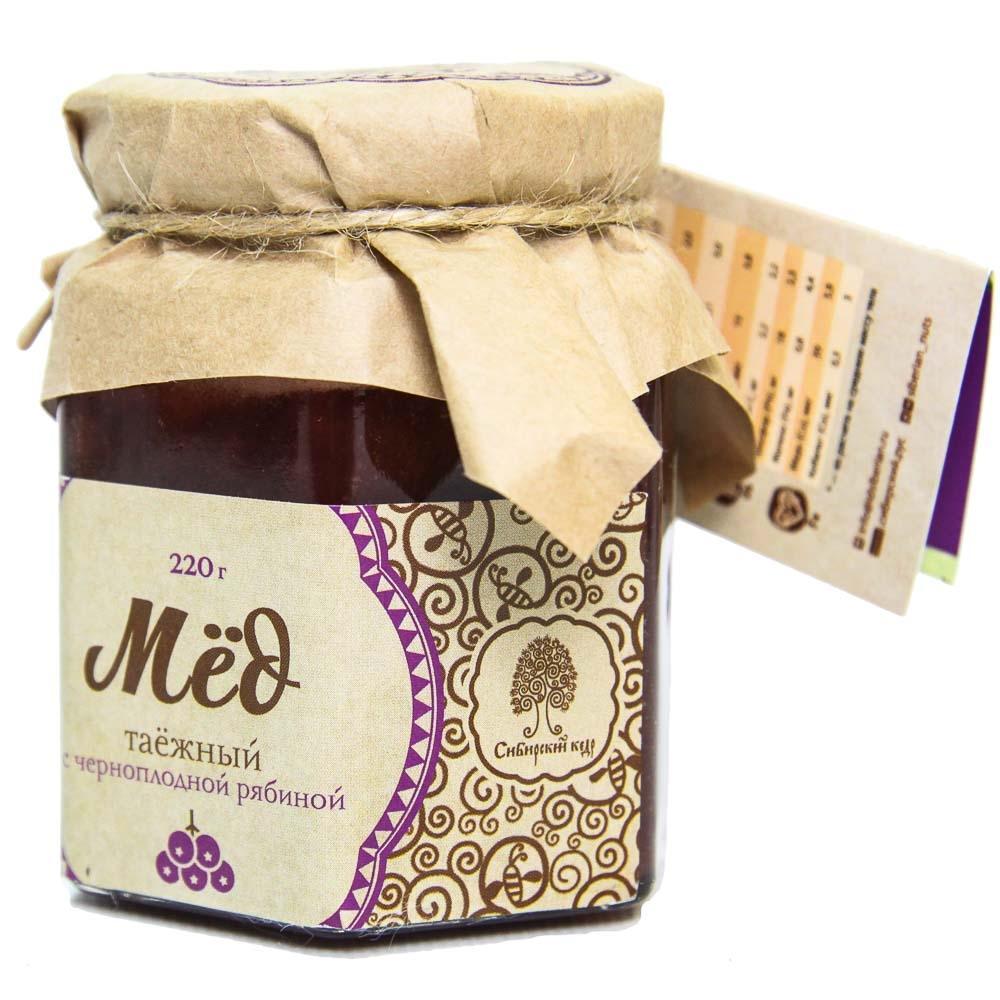 Мёд Таёжный, Сибирский кедр, с соком черноплодной рябины