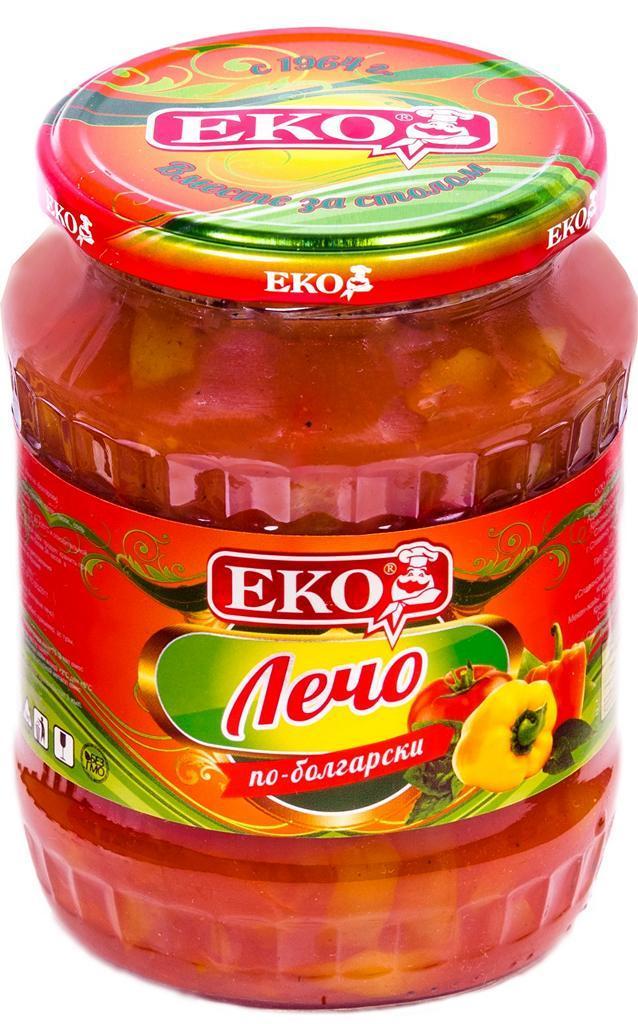 Овощные консервы Eko Лечо по-болгарски
