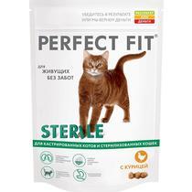 Корм сухой для стерилизованных кошек с курицей Perfect Fit 650 гр. Дой-пак