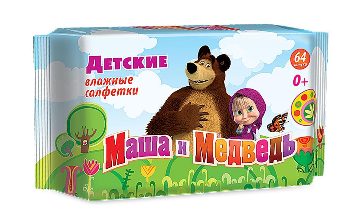 Влажные салфетки Маша и Медведь 64шт. 0+