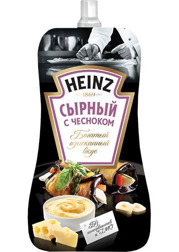 Соус Heinz сырный с чесноком
