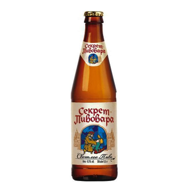 Пиво светлое Секрет Пивовара фильтрованное пастеризованное 4,5% 0.5 л
