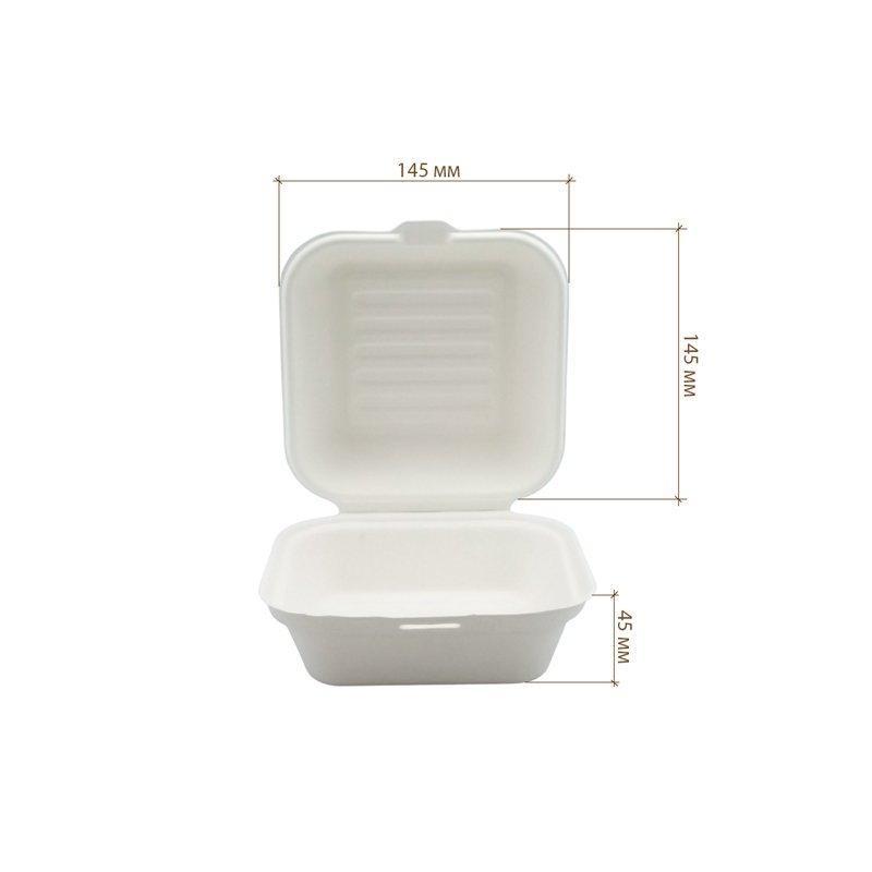 Бургер-бокс, 145*145*45 мм, белый