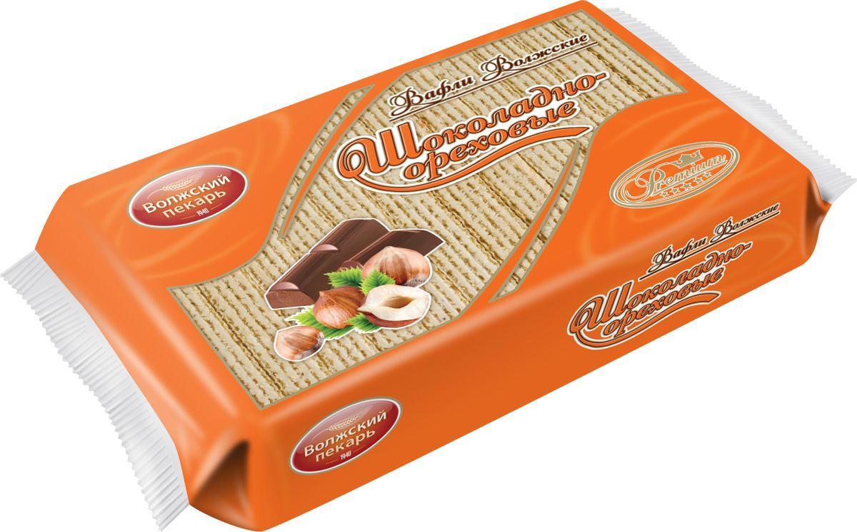 Вафли Волжский пекарь Волжские Шоколадно-ореховые