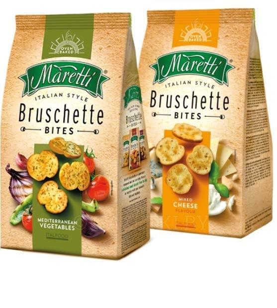 Сухарики Maritti ломтики хлеба и средиземноморские овощи