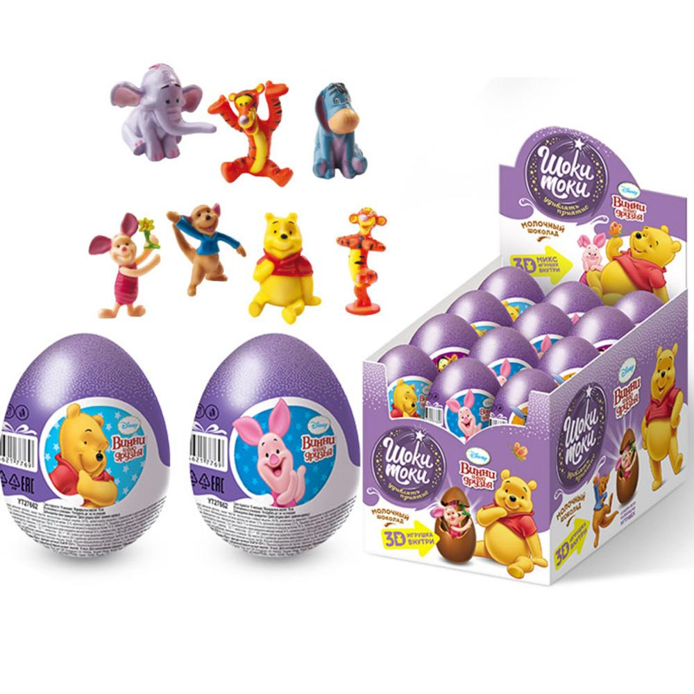 Яйцо Шоки-Токи Disney Винни Пух шоколадное с сюрпризом