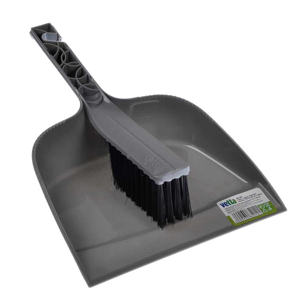 Набор для уборки  Vetta Практик совок + щетка 29х19,5х6см, 2 цвета