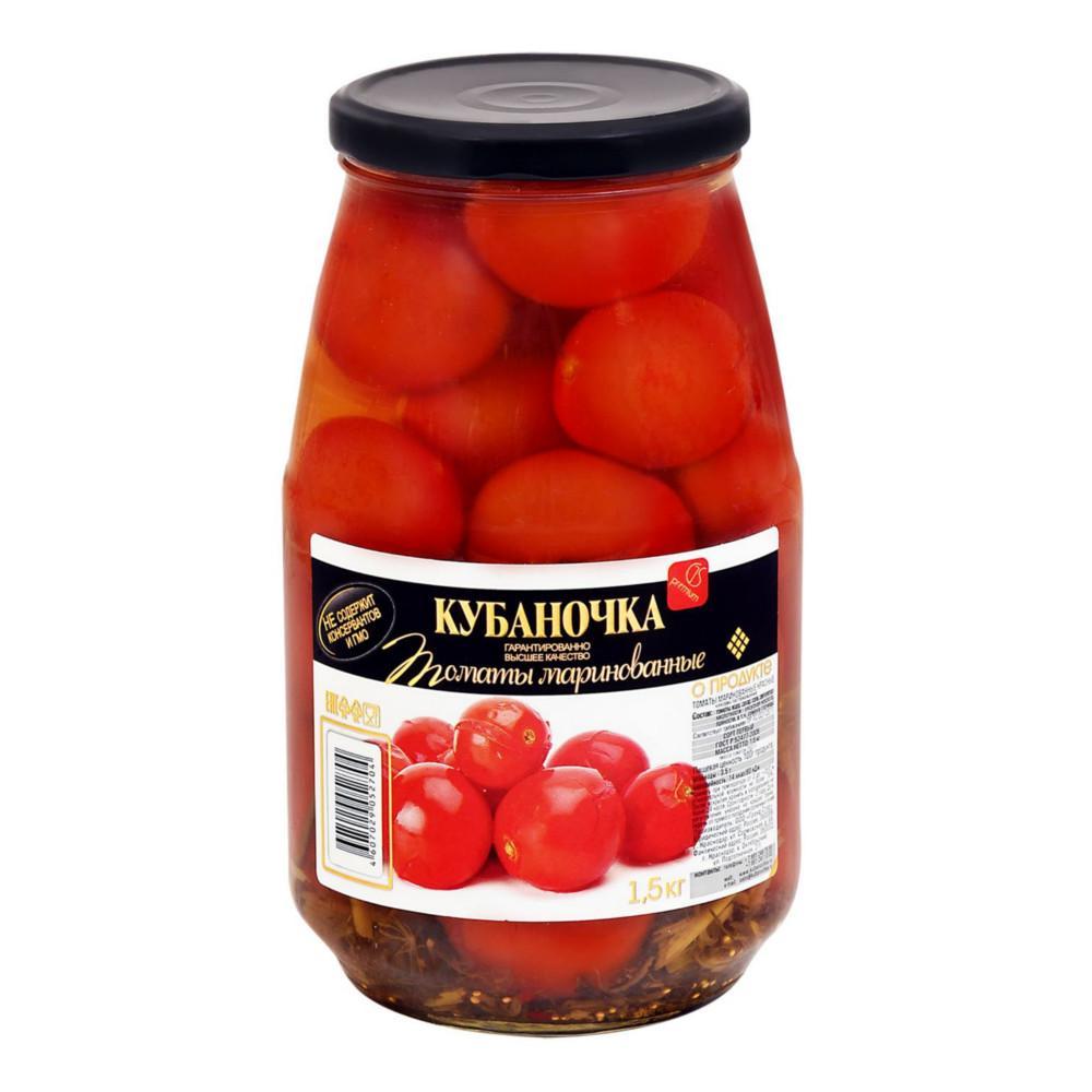 Овощные консервы Кубаночка томаты маринованные