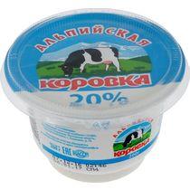 Сметанный продукт Альпийская Коровка 20 % 200 г