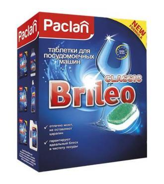 Таблетки для посудомоечных машин 14 шт., Paclan Brileo Classic, Картонная коробка