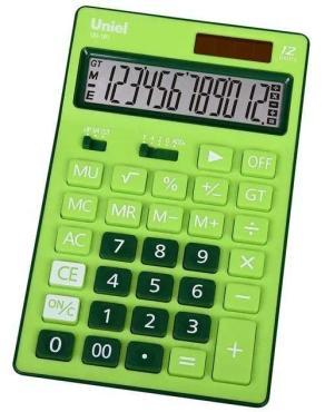 Калькулятор зеленый Uniel UD-181G, 180 гр., картонная коробка