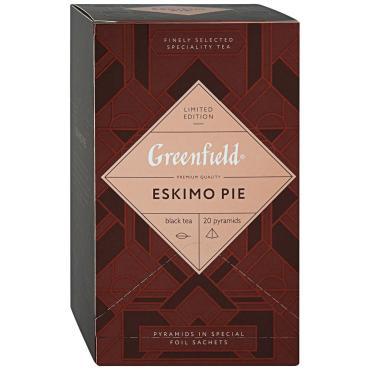 Чай черный байховый 20пак., Greenfield Eskimo Pie, 44 гр., Картонная коробка