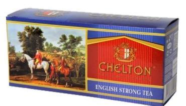 Чай пакетированный черный 50 пак. Chelton Английский Крепкий, 100 гр., картонная коробка