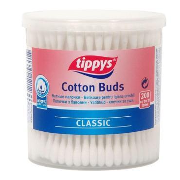 Ватные палочки 200 штук Tippys, Пластиковый стакан