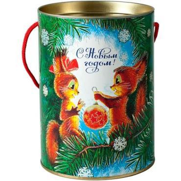 Новогодний подарок Веселые бельчата сладкий, Кондитерский дом Белочка, 700 гр., подарочная упаковка