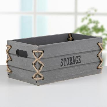 Корзина Доляна Storage для хранения, плетение, цвет серый