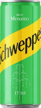 Газированный напиток Мохито Schweppes, 330 мл., ж/б