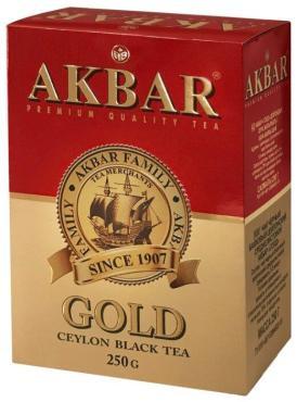 Чай черный Akbar Gold, 250 гр., картонная коробка