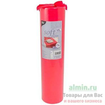 Скатерть нетканая 400 мм.*24 м., в рулоне 1/4 красная Papstar мягкий выбор, 409,6 гр.
