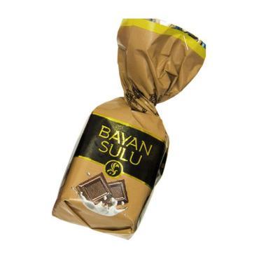 Конфеты глазированные Баян сулу Сливки и шоколад, 1 кг., флоу-пак