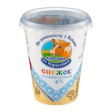 Снежок термостатный 4%, Коровка из Кореновки, 350 гр., стакан