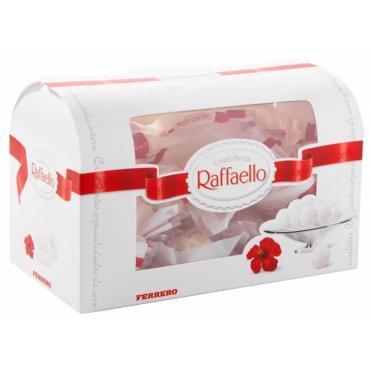 Конфеты Raffaello с цельным миндалем, в кокосовой обсыпке, 240 гр., картон, 6 шт.