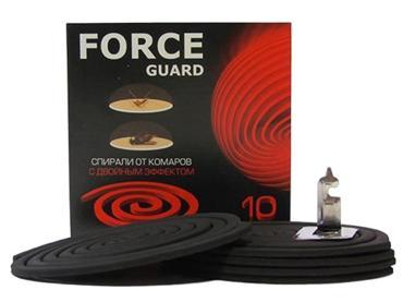 Спирали от комаров с двойным эффектом, 10 шт., Force Guard, картонная коробка