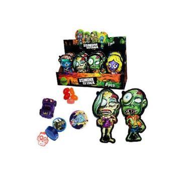 Жевательное драже в сахарной глазури с игрушками Зомби Сюрприз, 300 гр., картонная коробка