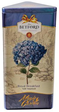 Чай листовой черный Opa Betford Королевский завтрак Гортензия, 300 гр., жестяная банка