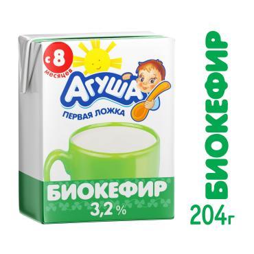 Биокефир Агуша 3.2% 1х12х204г