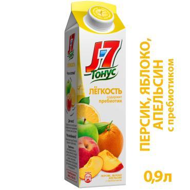 Нектар J7 Тонус Легкость Яблоко-апельсин-персик 0,9 л.